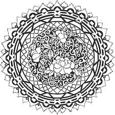 Free Coloring Pages To Print For Adults Printable Quotes Mandala Abstract Art