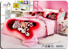 Minnie Mouse Twin Bedding by Minnie Mouse Bedding Sets Kids Print Bedding Set 4pcs Bedclothes