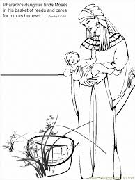 Bible Coloring Pages Moses