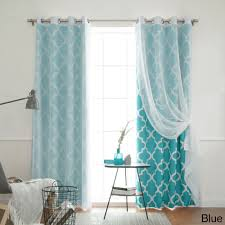 Anna Lace Curtains With Attached Valance by Aurora Home Mix And Match Curtains Muji Sheer Moroccan 84 Inch 4