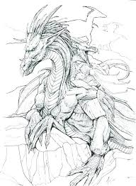 Fire Breathing Dragon Coloring Pages S For Adults