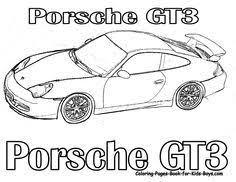 Cars COloring Porsche Sports Car Picture Coloring Pages