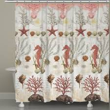 Bed Bath And Beyond Bathroom Curtain Rods by Buy Seashell Shower Curtains From Bed Bath U0026 Beyond