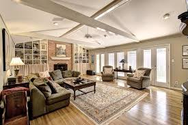 attractive recessed lighting layout for living room with fireplace