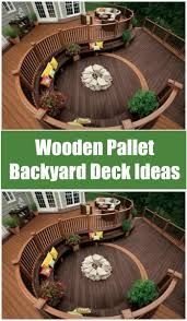 Wooden Pallet Backyard Deck