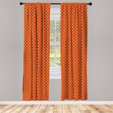 gardine fensterbehandlungen 2 panel set für wohnzimmer schlafzimmer dekor abakuhaus orange vintage tupfen fliese kaufen otto