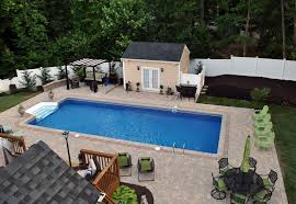 Ideas: Fantastic Backyard Pool Ideas Gives Peaceful Atmosphere ... Best 25 Large Backyard Landscaping Ideas On Pinterest Cool Backyard Front Yard Landscape Dry Creek Bed Using Really Cool Limestone Diy Ideas For An Awesome Home Design 4 Tips To Start Building A Deck Deck Designs Rectangle Swimming Pool With Hot Tub Google Search Unique Kids Games Kids Outdoor Kitchen How To Design Great Yard Landscape Plants Fencing Fence