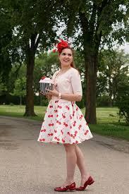 WinnipegStyle Chicwish Retro Cherry Print Flare Dress Kate Spade Magnolia Bakery Cupcake Bag