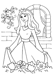 Princess Coloring Page Photo Pic Color Book