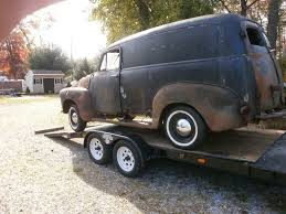 100 1951 Chevy Truck For Sale CHEVY PANEL TRUCK PROJECT Motor Trans Removed Extra Parts