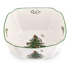 Spode Christmas Tree Square Bowl Large