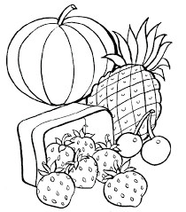 Full Image For Coloring Pages Of Food Items Healthy Printable