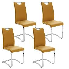 mca furniture schwingstuhl köln mit griff kunstlederbezug farbe curry gestell rundrohr freischwinger für küche und esszimmer