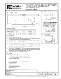 Ceiling Radiation Damper Code by Submittal Model Uni2 Architectural Ceiling Diffusers