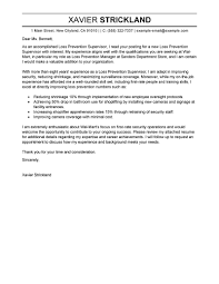 Leading Professional Loss Prevention Supervisor Cover Letter