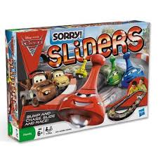 SORRY Sliders Disney Pixar Cars 2 Edition Game