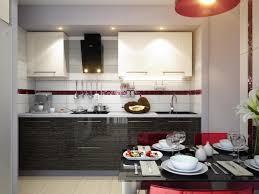 Stunning Red White Black Modern Kitchen Dining Decor Style Olpos Design Picture Of At Minimalist Ideas