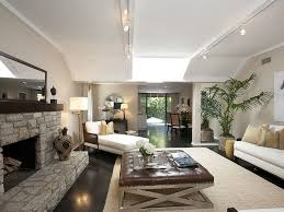 track lighting emphasizes living room lean lines step dma