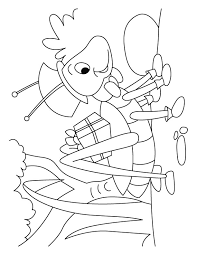 Grasshopper Gift Courier Service Coloring Pages
