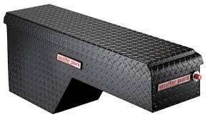 100 Truck Tool Boxes Black Diamond Plate Aluminum Wheel Well Box Driver Side