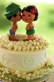 Hawaiian Wedding Cake Topper