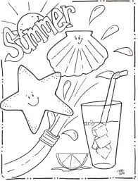 Free Printable Summer Coloring Pages Kids Summertime For Adults Vacation