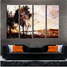 Image Is Loading 4 Piece Art Set Aesthetic Landscape Handmade Wall