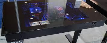 lian li dk 04 sit and stand computer desk enclosure oc3d net