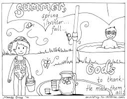 Download Coloring Pages Summer Activities Free Printable For Kids 9