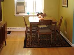 Image Of Area Rug Under Dining Room Table Black