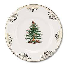 Spode Christmas Tree Gold Salad Plate Set Of 4
