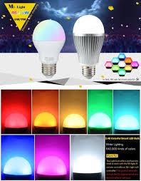 milight 2 4g e27 6w 9w wireless colorful led rgbcw rgb cool white