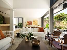 Tropical House Design Living Room Contemporary With Area Rug Black Blades