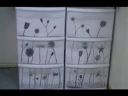 Decorating Fabric Storage Bins by Diy Decorate Your Storage Bins Drawers With Flower Silhouettes