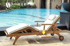 bedford teak sun lounger with cushion casa bella furniture uk