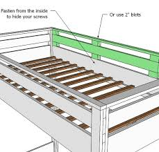 Wood Plans For Loft Bed by Ana White How To Build A Loft Bed Diy Projects