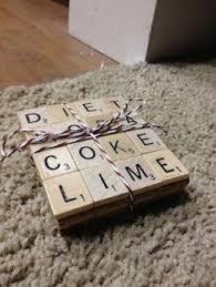 diy your own scrabble coasters crafts diy