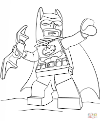Coloring Pages Batman Lego Page Free Printable Download