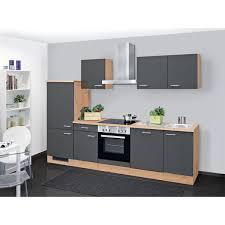 küchenblock tiago holznachbildung grau 280 cm
