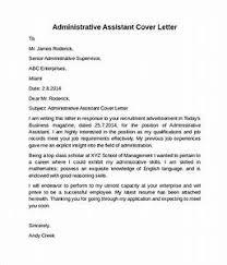Administrative Assistant Cover Letter Pointrobertsvacationrentals