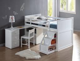 Canwood Whistler Junior Loft Bed White by Acme Wyatt Loft Bed W Chest And Swivel Desk Ladder White 19405