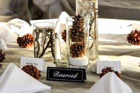 Country Wedding Table Decorations Beautiful Rustic Winter Centerpiece Ideas Archives Decorating Party