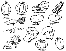 Vegetable Coloring Pages Photo Gallery For Website