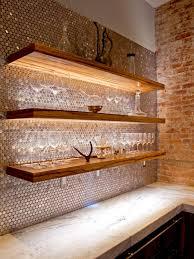 Log Cabin Kitchen Backsplash Ideas by 15 Creative Kitchen Backsplash Ideas Penny Tile Copper Penny