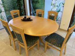 esszimmer garnitur tisch ausziehbar stühle polster gereinigt