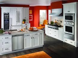 Kitchen White Rustic Ideas Multi Level Cabinet Wooden Countertop Holland Barstools Engineered Hardwood Floor Window Treatments Green