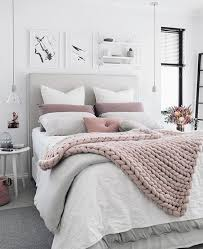 Grey White And Pink Bedroom