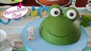 froschtorte backen einfache 3d fondant torte zum kindergeburtstag selber machen