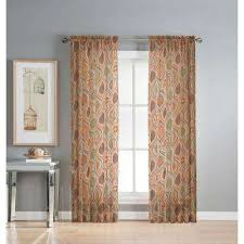 Sheer Curtain Panels With Grommets by Orange Grommet Sheer Curtains U0026 Drapes Window Treatments