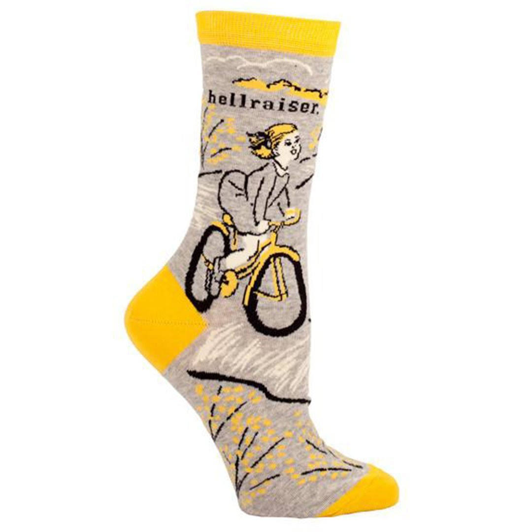 Blue Q Love Hellraiser Women's Crew Socks - Grey